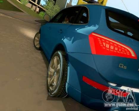 Audi Q5 pour GTA San Andreas vue de dessous