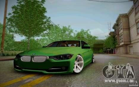 BMW 3 Series F30 Stanced 2012 für GTA San Andreas Innenansicht