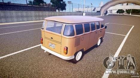Volkswagen Kombi Bus für GTA 4 hinten links Ansicht