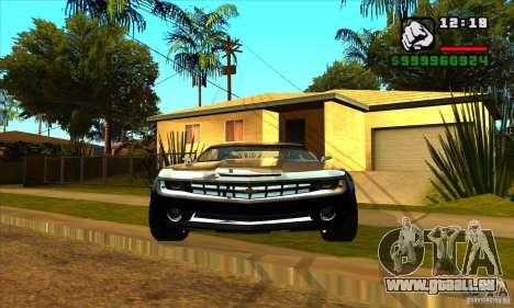 Chevrolet Camaro Concept Z06 2007 für GTA San Andreas zurück linke Ansicht