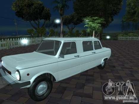 ZAZ 968 m Limousine für GTA San Andreas obere Ansicht