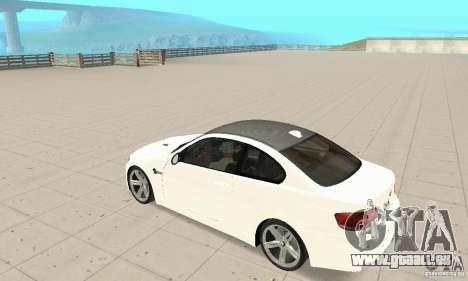 BMW M3 2008 pour GTA San Andreas vue de côté