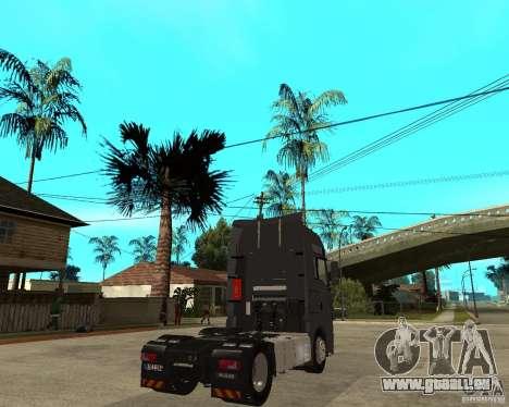 Man TGA pour GTA San Andreas sur la vue arrière gauche
