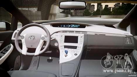 Toyota Prius NYC Taxi 2011 pour GTA 4 Vue arrière