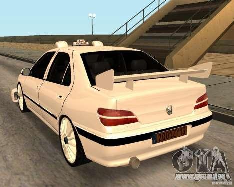 Peugeot 406 Taxi 2 pour GTA San Andreas sur la vue arrière gauche