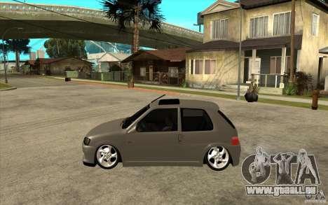 Peugeot 106 Reptile pour GTA San Andreas laissé vue
