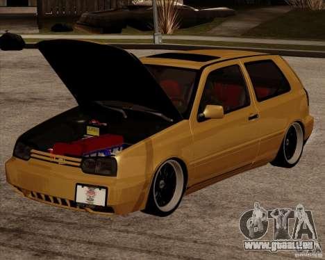 VW Golf MK 4 low & slow pour GTA San Andreas sur la vue arrière gauche