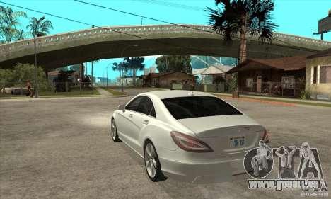 Mercedes-Benz CLS 350 2011 pour GTA San Andreas sur la vue arrière gauche