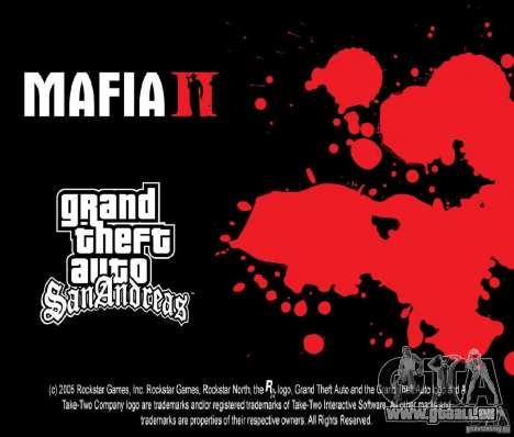 Images de démarrage dans le style d'une Mafia II pour GTA San Andreas