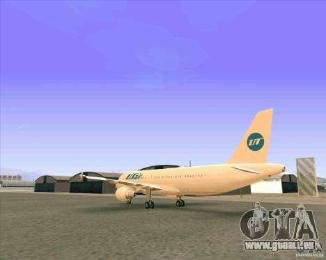 Airbus A-320 compagnie aérienne UTair pour GTA San Andreas vue de droite