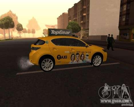 Lexus CT 200h 2011 Taxi für GTA San Andreas rechten Ansicht