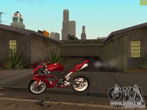 Yamaha YZF-R1 Custom pour GTA San Andreas laissé vue