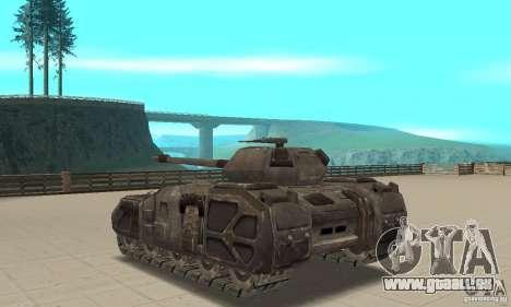 Rhino Tank-UT pour GTA San Andreas sur la vue arrière gauche