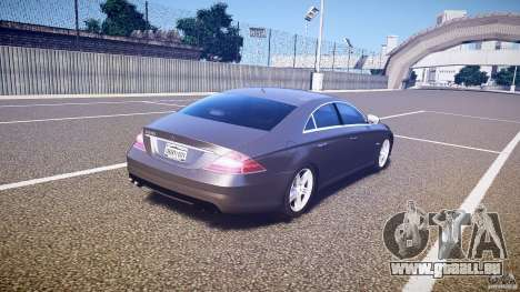 Mercedes-Benz CLS 63 pour GTA 4 vue de dessus