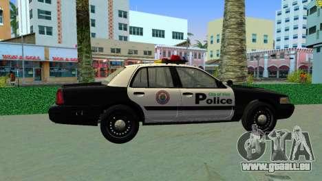 Ford Crown Victoria Police 2003 für GTA Vice City zurück linke Ansicht