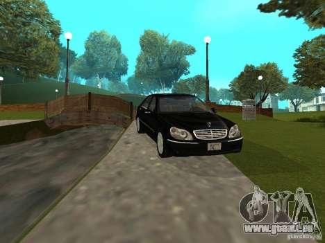 Mercedes-Benz S600 Biturbo 2003 v2 pour GTA San Andreas laissé vue