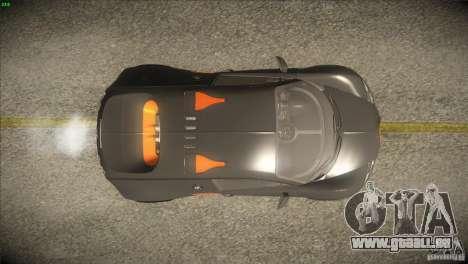 Bugatti Veyron Super Sport für GTA San Andreas Innen