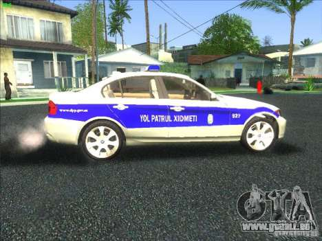 BMW 330i YPX für GTA San Andreas Innenansicht