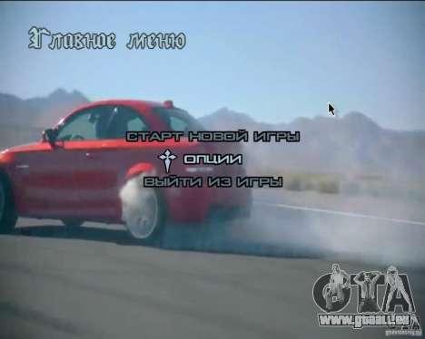 Video-Hintergründe im Menü für GTA San Andreas dritten Screenshot