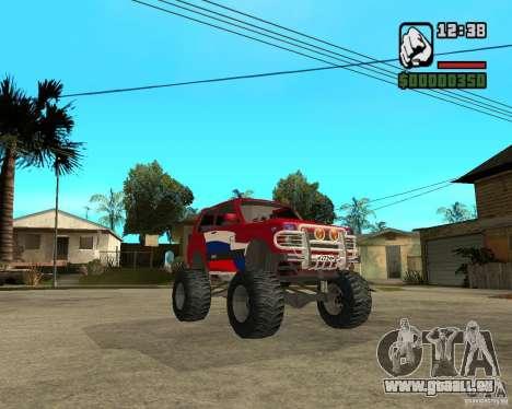 VAZ-21213 4x4 Monster pour GTA San Andreas vue intérieure