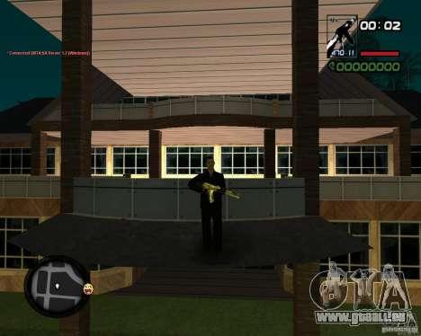 AK-47 Gold für GTA San Andreas dritten Screenshot