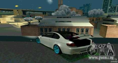 BMW E92 pour GTA San Andreas vue intérieure