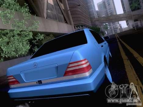 Mercedes-Benz S-Class W140 pour GTA San Andreas vue intérieure