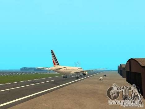Boeing 777-200 Air France für GTA San Andreas rechten Ansicht