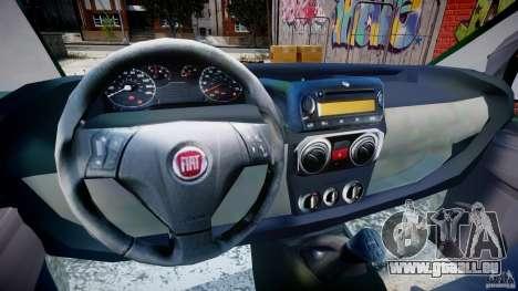 Fiat Fiorino 2008 Van pour GTA 4 Vue arrière