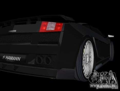 Lamborghini Gallardo Hamann Tuning pour une vue GTA Vice City de la droite