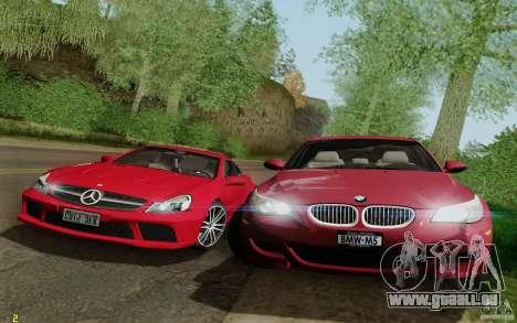 BMW M5 2009 für GTA San Andreas obere Ansicht