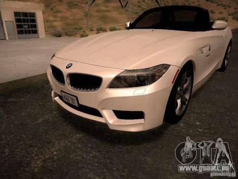 BMW Z4 sDrive28i 2012 pour GTA San Andreas salon