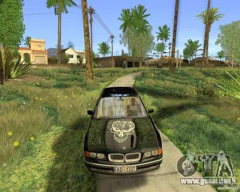 BMW 730i E38 1996 pour GTA San Andreas vue intérieure