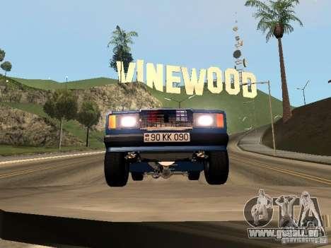 VAZ 2107 Bakou pour GTA San Andreas sur la vue arrière gauche