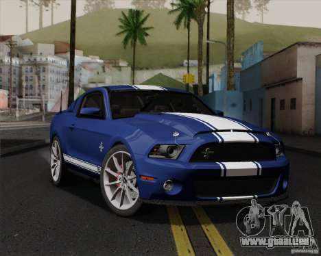 Ford Shelby GT500 Super Snake 2011 für GTA San Andreas obere Ansicht