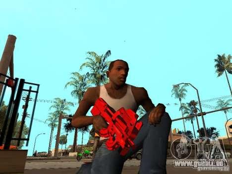 Red Chrome Weapon Pack pour GTA San Andreas troisième écran