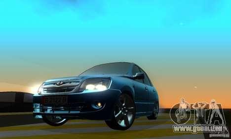 Lada Granta Light Tuning pour GTA San Andreas sur la vue arrière gauche
