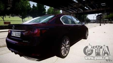 Lexus GS350 F Sport 2013 für GTA 4 Innenansicht