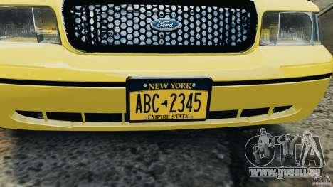 Ford Crown Victoria NYC Taxi 2004 für GTA 4 Rückansicht