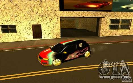 Volkswagen Golf V R32 Custom für GTA San Andreas Innen