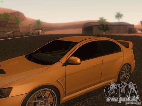 Mitsubishi  Lancer Evo X BMS Edition für GTA San Andreas Räder