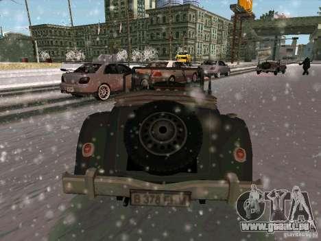 Auto Sabotage jeu pour GTA San Andreas sur la vue arrière gauche