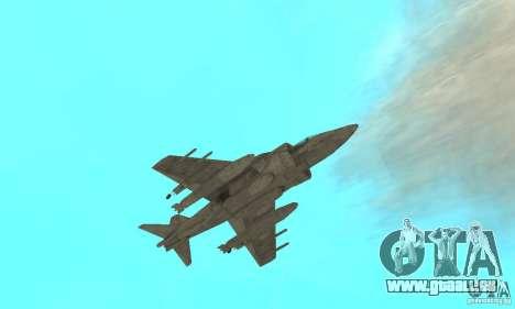 AV-8 Harrier pour GTA San Andreas vue de côté