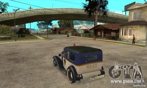 Ford Tudor Custom 1932 pour GTA San Andreas sur la vue arrière gauche