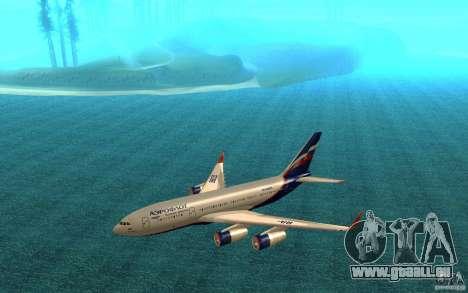 L'IL-96 300 Aeroflot dans de nouvelles couleurs pour GTA San Andreas