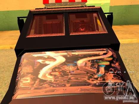 Swat III Securica pour GTA San Andreas sur la vue arrière gauche