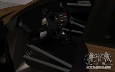 Mitsubishi Lancer Evolution X für GTA San Andreas Unteransicht