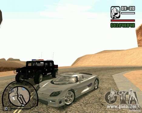 Koenigsegg CC8S pour GTA San Andreas
