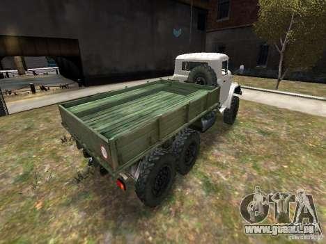 ZIL 131 pour GTA 4 Vue arrière