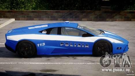 Lamborghini Reventon Polizia Italiana pour GTA 4 Vue arrière de la gauche